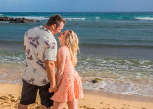 Beach Engagement Photo - Hawaii Ocean Photography