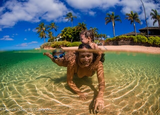 underwater hawaii ocean photography family