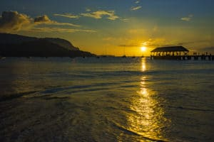 Hanalei Bay Sunset - Hawaii Ocean Photography